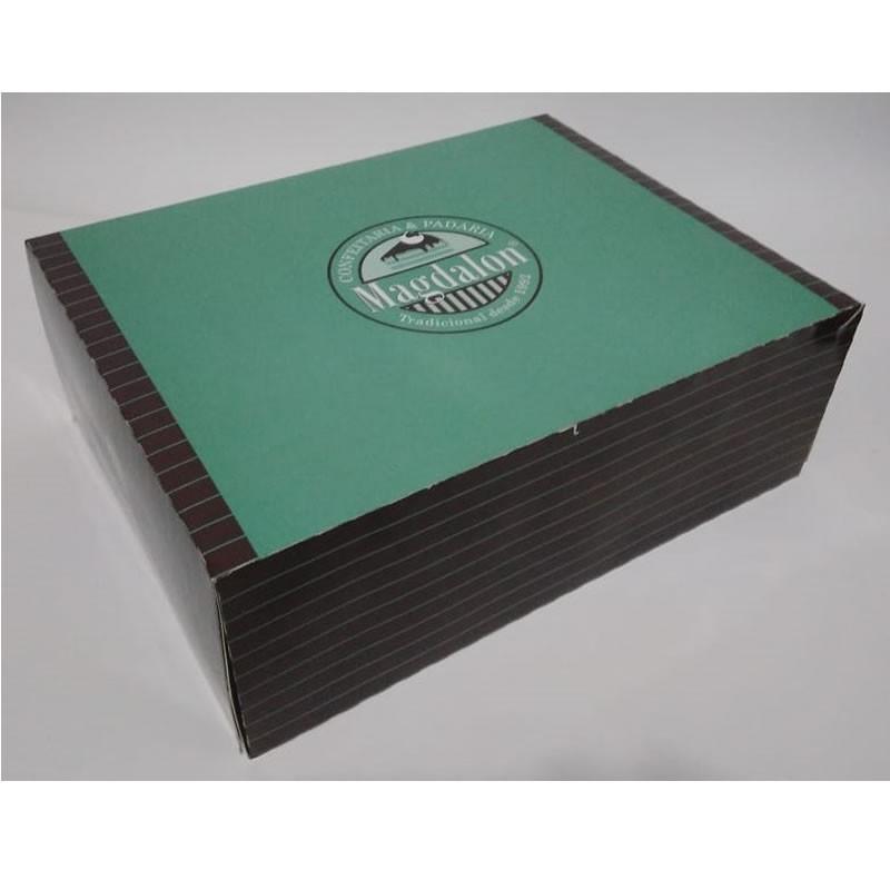 Caixa de papel para confeitaria personalizada