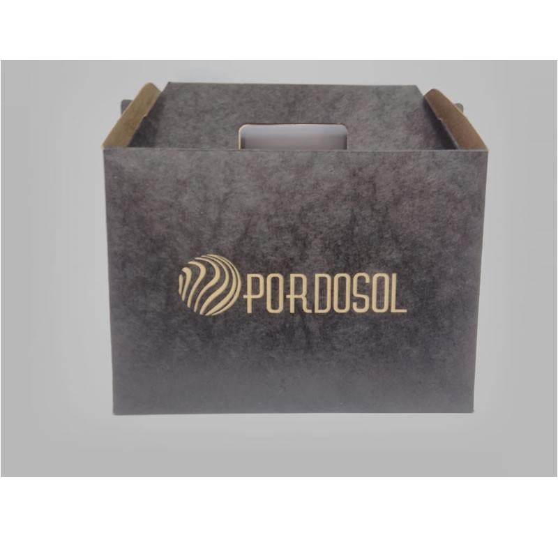 Caixas com alça de papel personalizadas