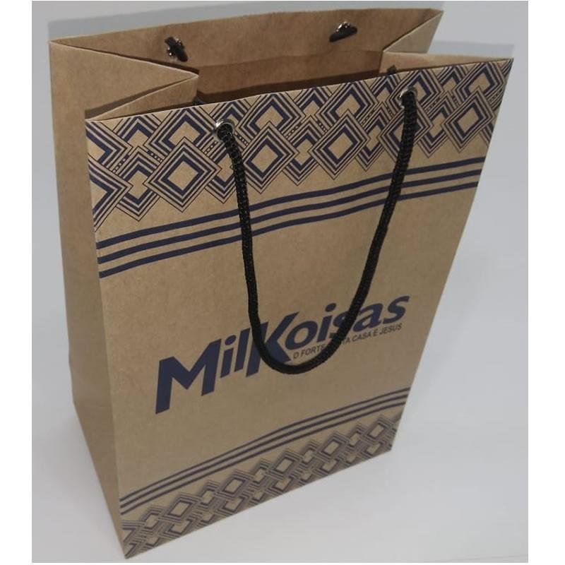 Sacola de papel kraft personalizada